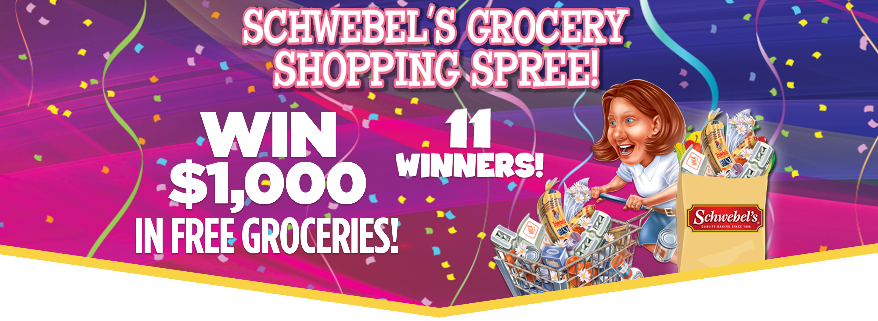Win Free Groceries in the Schwebel's Grocery Shopping Spree