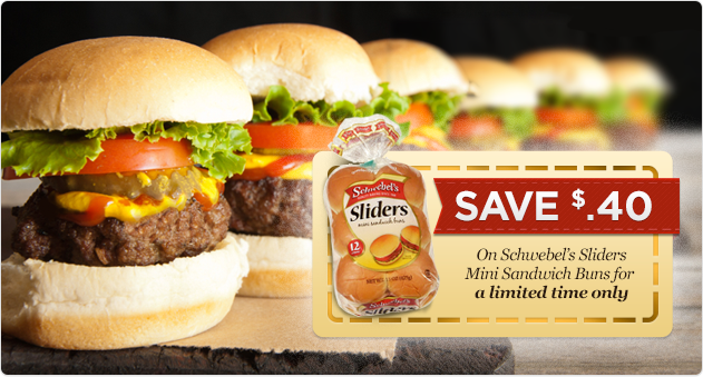 Save 40¢ on Schwebel's Sliders Mini Sandwich Buns